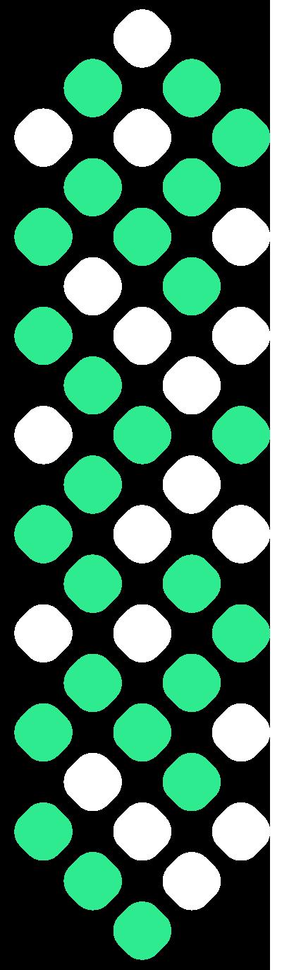 decorazione verde e bianca